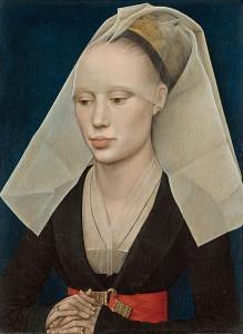 438px-Rogier_van_der_Weyden_Portrait_of_A_lady_C1460